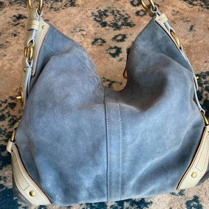 Coach Bags - Coach Suede and Snake Skin Hobo Bag Luxury Line